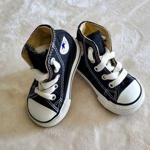 Converse Black Hightops Infant Sz 3